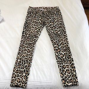 Kate spade size 28 leopard denim